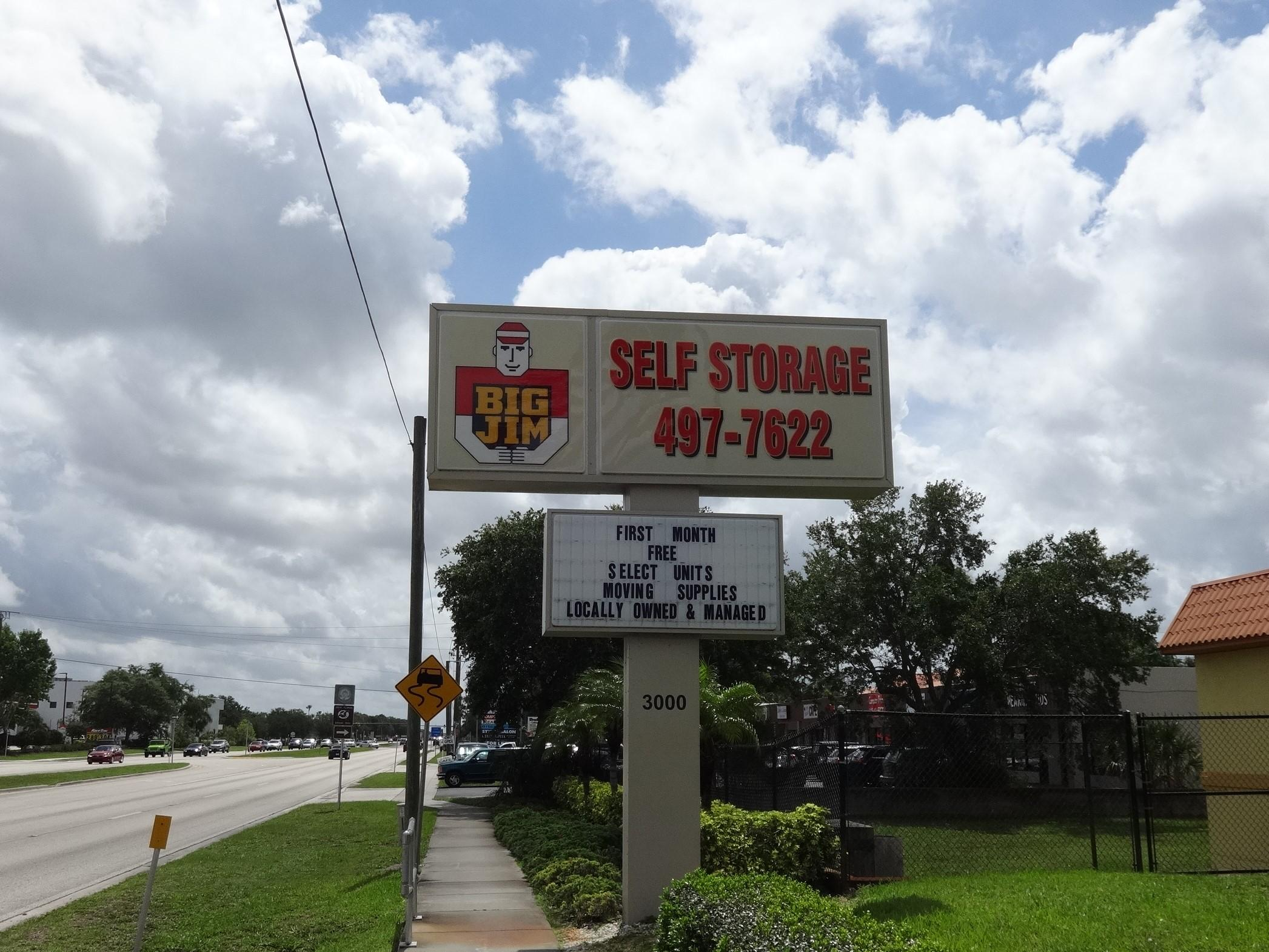 Big Jim Self Storage Street Sign in Venice, FL