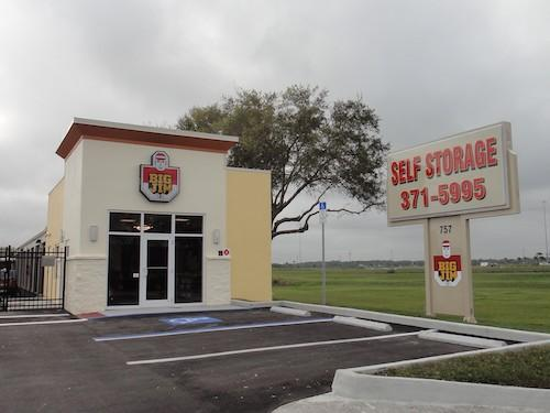 self storage facility and street sign in Sarasota, Fl